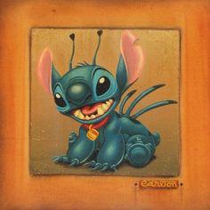 "Disney ""STITCH"" Size: 18 x 18   Giclée on Canvas   EDITION 95"