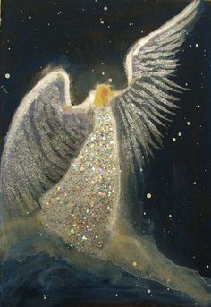 ACEO Original Angel Painting Spiritual Inspirational Healing Energy by Breten Bryden BrydenArt.com #Angels