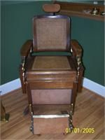 Late 1800's Koken Barber Chair, cane seat & back used in the southern states, very rare. $3400