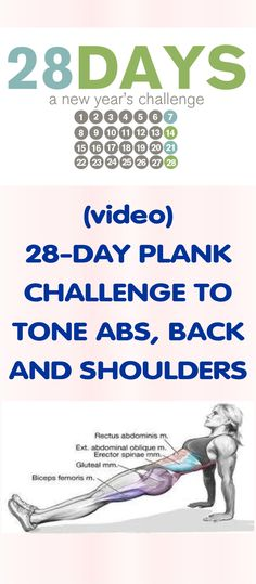 [VIDEO] 28-DAY PLANK CHALLENGE TO TONE ABS, BACK AND SHOULDERS