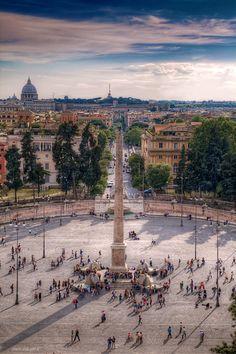 Roma. Piazza del Popolo dal Pincio - Italia by Paolo Margari