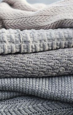 Cozy winter fabrics.