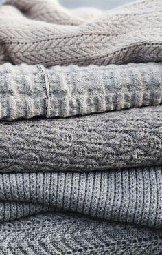 Cozy winter fabrics.