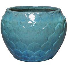 Artichoke Ceramic Planter - Turquoise Blue | Scenario Home