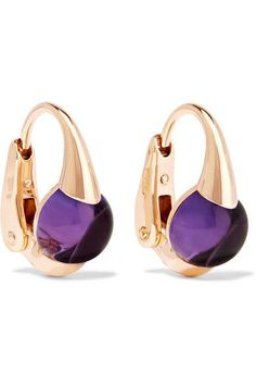 POMELLATO Nudo 18k Gold Amethyst Earrings ImRYluA4Bp