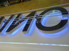 Perspex and built up mirror stainless steel Signages, Advertising, Kitchen Appliances, Stainless Steel, Models, Mirror, Lighting, Logos, Building