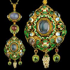 HENRY WILSON  (1864-1934)  							  						  					  					  						A Highly Important Jewelled Gold & Enamel Pendant  (c. 1908						England)