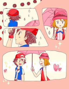 Aww ^_^ ^.^ ♡ Amourshipping ^.^ ♡ I give good credit to whoever made this  I found this in m.vk.com/amourshipping