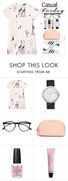 """""""Casual Friday"""" by stavrolga ❤ liked on Polyvore featuring Rochas, Illesteva, MICHAEL Michael Kors, OPI, adidas, casualoutfit, casualfriday and polyvoreeditorial"""