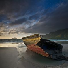 Wrecked Boat, Con Dao Island, AKA Con Son or Con Lon, is located about 100 nautical miles South East of Vung Tau City, Vietnam.