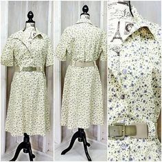 a6f7210257 Vintage 60s dress   1960s Cotton Floral House   Day Dress   Plus size 2X  XXL size 16   22