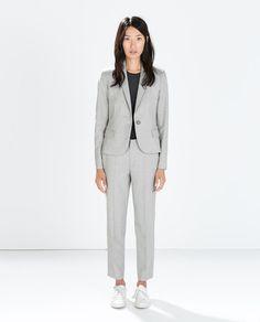 1 set cropped pantsuit in neutral tone of choice * (ZARA - MUJER - PANTALÓN TOBILLERO)