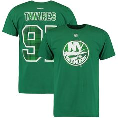John Tavares New York Islanders Reebok St. Paddy s Name   Number T-Shirt -  Kelly Green. max a4dc0ec6b