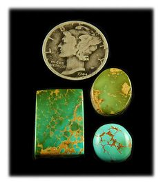 Here is a collection of three beautiful Royston Turquoise Stones that have just become available on Durango Silver Online Store. All three for $54.00 !!! at http://www.durangosilver.com/royston_turquoise_cabochons_65_ctg.htm