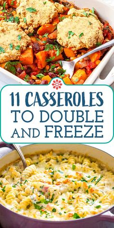 11 Casseroles to Double and Freeze! Get ahead of the game with these 11 incredible casseroles. They are freezer-friendly, make-head magic meal ideas. Best Meals To Freeze, Freezer Friendly Meals, Make Ahead Freezer Meals, Freezer Cooking, Freezer Recipes, Veggie Freezer Meals, Freezable Recipes, Bulk Cooking, Batch Cooking