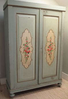 Armoire W/ Painted Panels | Armoires, Paint Furniture And Furniture Ideas