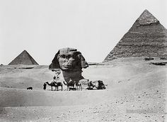Pyramids and Sphinx: Giza, Egypt 1860-1890 | Photographium | Historic Photo Archive ( still buried to its neck in sand)