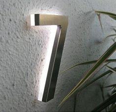Lampes extérieures modernes Led House Number