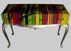 Painted furniture, dresser, colorful, graffiti