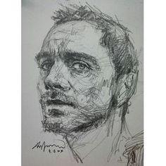 연필맛 :D #drawing #art #pencil #sketch #doodling #doodle #artist #saera #croquis #celebrity #MichaelFassbender