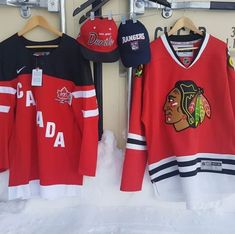 Hello #hockeyfans check out #platosclosetcambridge for some great gear. #teamcanada #nwt s med 45.oo #blackhawks s lrg 45.oo #hats 8.00 ea. #nhl #gentlyused #sportsfans #wintersports #winterfun #gentlyused #thriftstorefinds #shoplocal | www.platosclosetcambridge.com
