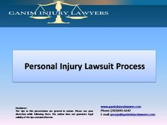 Personal injury law can be time consuming. Knowledge about the process will help in keeping up with the case. The following slide explains personal injury lawsuits by the expert attorneys of Ganim Injury Lawyers in Connecticut. Read More here http://ganiminjurylawyers.com/slideshowpersonal-injury-lawsuit-process/