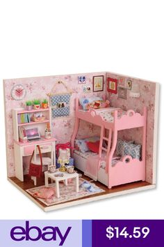Casa de muñecas en miniatura 1:12th escala Fancy techo Rose