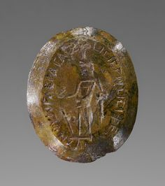 Double-Sided Engraved Gem with Magical Inscription; Unknown; Roman Empire; 2nd - 4th century; Brecciated jasper & chalcedony; 7 x 1.5 cm (2 3/4 x 9/16 in.); 83.AN.437.52; Gift of Damon Mezzacappa and Jonathan H. Kagan