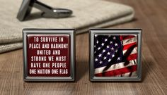 Personalized Stars And Stripes USA Flag Cuff Links American USA Cufflink Gift American USA Wedding Cufflinks Patriotic American Gifts