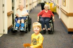 To become actively involved in therapy work at a nursing home with Landis.