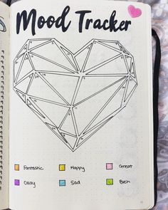 15 Awesome Mood Trackers to Try in Your Bullet Journal - Simple Life of a Lady Starting a mood tracker? Here are different kinds of mood trackers that you can copy in your bullet journal. February Bullet Journal, Bullet Journal 2020, Bullet Journal Notebook, Bullet Journal Aesthetic, Bullet Journal Spread, Heart Journal, Arc Notebook, Bullet Journal Mood Tracker Ideas, Bullet Journal Themes