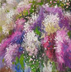 Colors of Spring 24 x 24 Original Oil Painting by decorpro on Etsy, $199.50