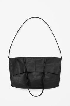 Foldover leather tote l COS