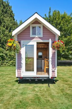 A lofted 160 square feet tiny house on wheels in delta, british columbia, canada. designed by tiny living homes. Tiny House Swoon, Tiny House Living, Tiny House Plans, Tiny House On Wheels, Small Outdoor Kitchens, Outdoor Kitchen Bars, Outdoor Kitchen Design, Outdoor Rooms, Outdoor Ideas