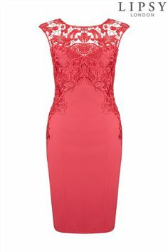 Buy Lipsy Sleeveless Lace Panel Dress from the Next UK online shop
