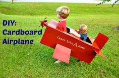 DIY Cardboard Airplane - this is so fun!