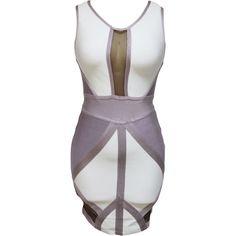 Nude And White Bandage Dress LAVELIQ SALE
