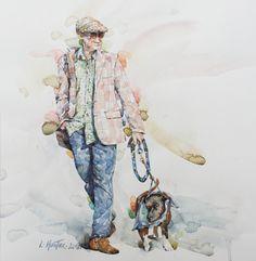 """Linda Hunter Watercolor """"Dashing Dude"""" Original Nice Art, Cool Art, Watercolors, The Originals, Painting, Water Colors, Painting Art, Watercolor Paintings, Paintings"""