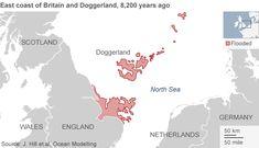 Prehistoric North Sea 'Atlantis' hit by tsunami - BBC News J Hill, Sunken City, Underwater City, Alternate History, Historical Maps, Ice Age, North Sea, Tsunami, Cartography