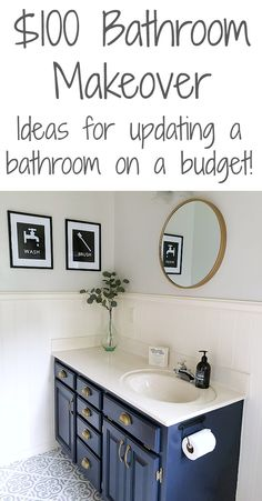 Beautiful bathroom decor some ideas. Modern Farmhouse, Rustic Modern, Classic, light and airy bathroom design some ideas. Bathroom makeover suggestions and master bathroom renovation suggestions. Diy Bathroom Remodel, Diy Bathroom Decor, Bathroom Renos, Basement Bathroom, Bathroom Renovations, Modern Bathroom, Navy Bathroom, Budget Bathroom Makeovers, Restroom Remodel