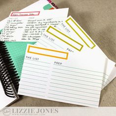 Color Coded Recipe Cards by Lizzie Jones for Papertrey Ink (March 2015)
