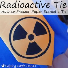 Radioactive tie...make your own with freezer paper stenciling