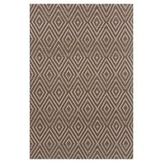 Dash & Albert Diamond Indoor/Outdoor Area Rug Charcoal/Taupe - RDB162-2512