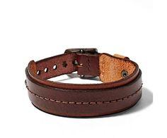 Mens Leather Bracelets, Leather Bracelet Collection for Men| FOSSIL