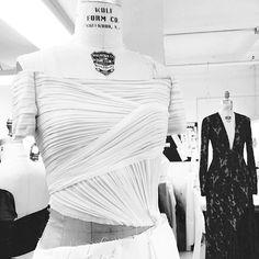 "#regram Designer @gillesmendel ""Draping day for upcoming Pre-Fall 2015 Collection"" #JMENDEL #OMGilles"