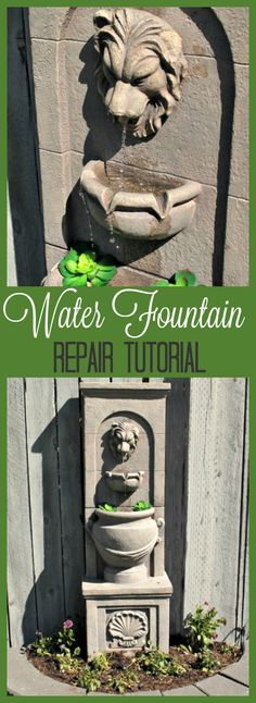 fountain repair, how