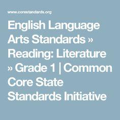 English Language Arts Standards » Reading: Literature » Grade 1 | Common Core State Standards Initiative