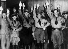 Nazister i Sverige före andra världskriget.  Bild: TT