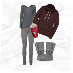 A fashion look from December 2014 featuring Friendly Hunting sweaters, Vero Moda leggings and UGG Australia boots. Browse and shop related looks.