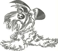 Dog  embroidery design. Animals embroidery